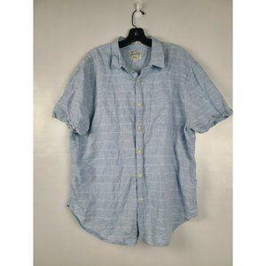 Lucky Brand Linen Blend Plaid Button Up